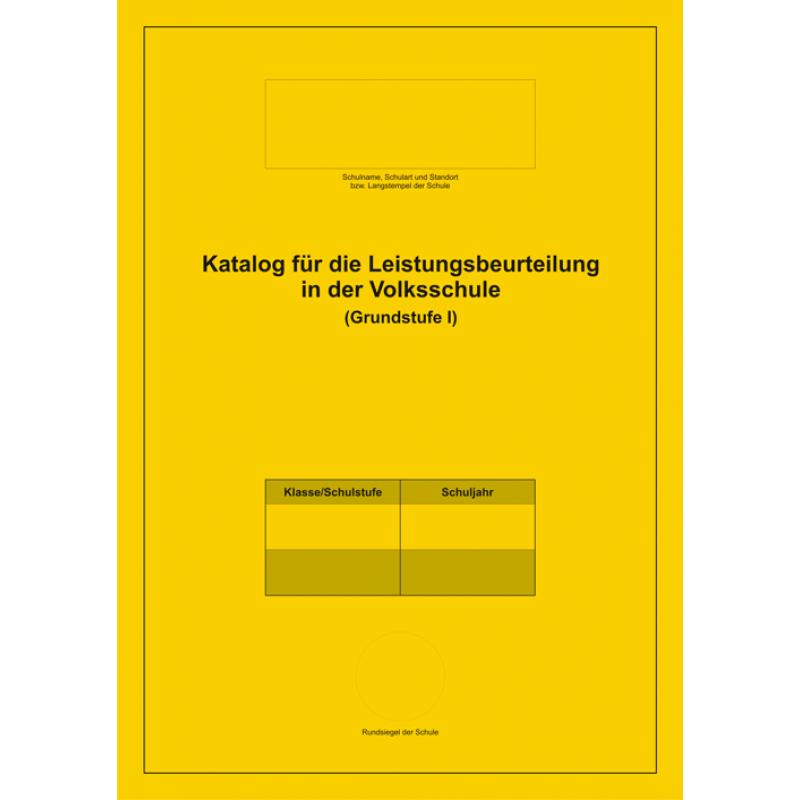 Innverlag | Katalog für Leistungsbeurteilung – Volksschule, Grundstufe 1