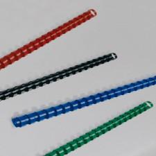 Plastikbinderücken, 10 mm, blau - Symbolbild