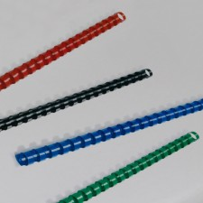 Plastikbinderücken, 6 mm, rot, 100 Stk. - Symbolbild