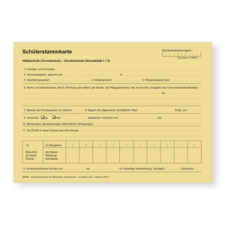 Schülerstammkarte für Volksschule und Allgemeine Sonderschule